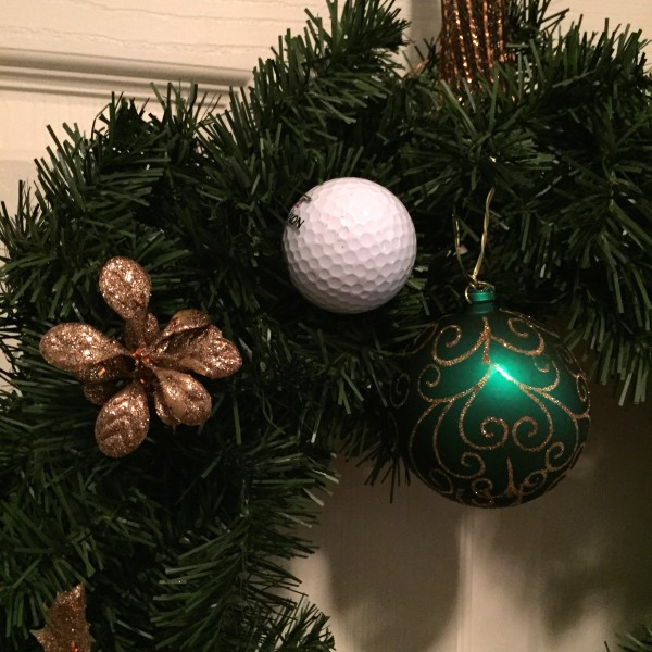 Golf Wreath Christmas Holiday Golfball Decoration-Green
