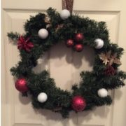 Golf Wreath Christmas Holiday Golfball Decoration Gift-Red