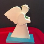 Handmade Wood Holiday-Baptism-Communion-Gifts-Medium-Praying-Angels