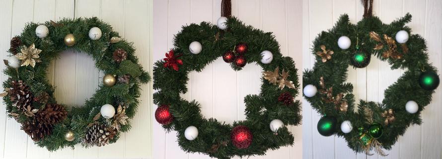 Golf Wreath Holiday Golfball Decor