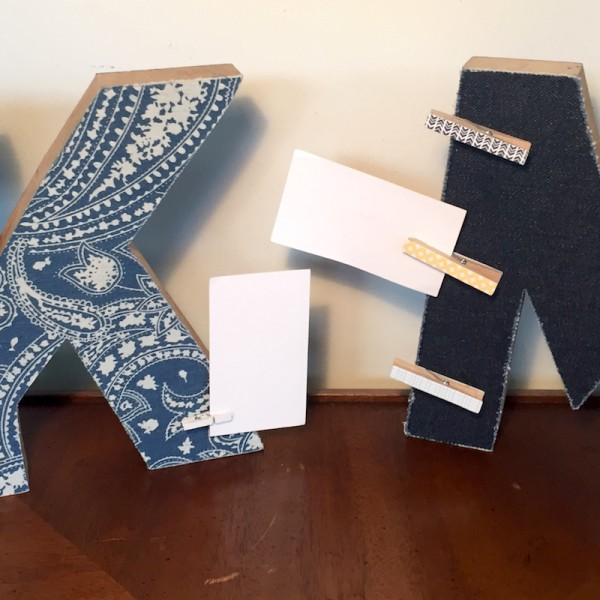 Letter Card Note Holder